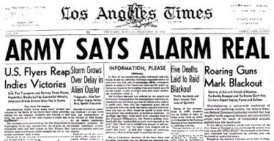 Los Angeles Times Headline