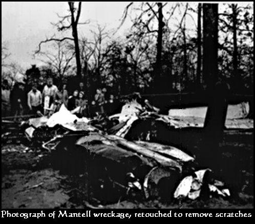 voici ce qui est resté du f-51 mustang de thomas mantell.que c'est il passé dans les airs?